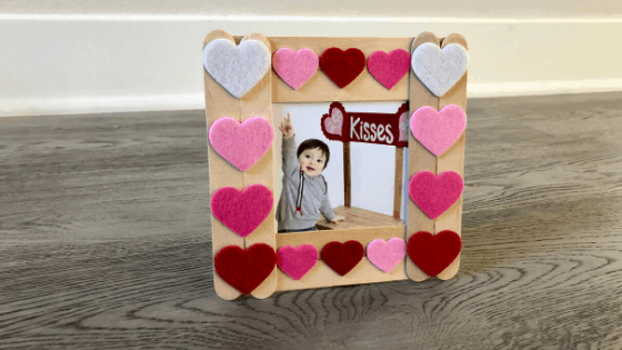 Popsicle Stick Picture Frame for Valentine's Day Mom Brite