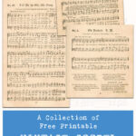 A Collection of Free Printable Vintage Gospel Hymns Sheet Music