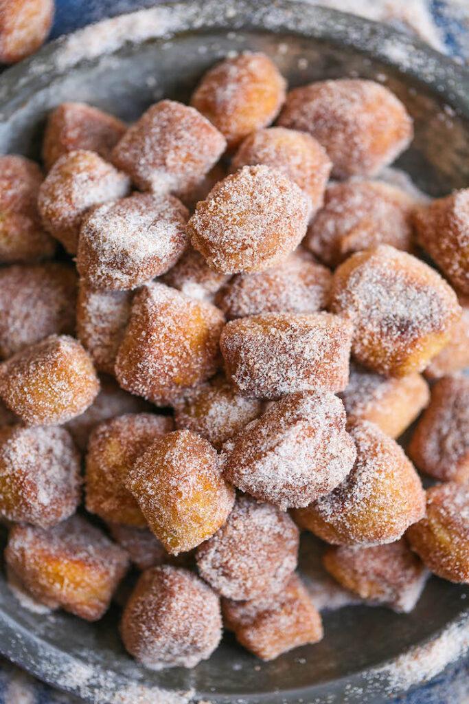 Cinnamon Sugar Pretzel Bites Damn Delicious