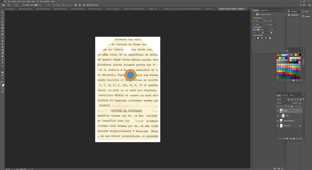 Creating an Ellipse in Photoshop