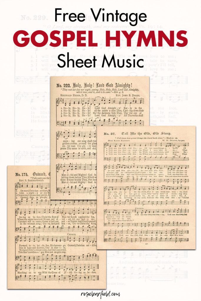 Free Vintage Gospel Hymns Sheet Music