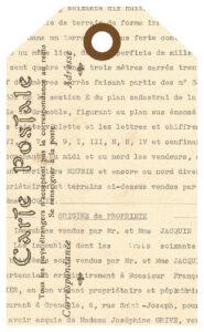 French Ephemera Journal Tag Carte Postale Version