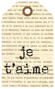 French Ephemera Journal Tag Je T'Aime Version