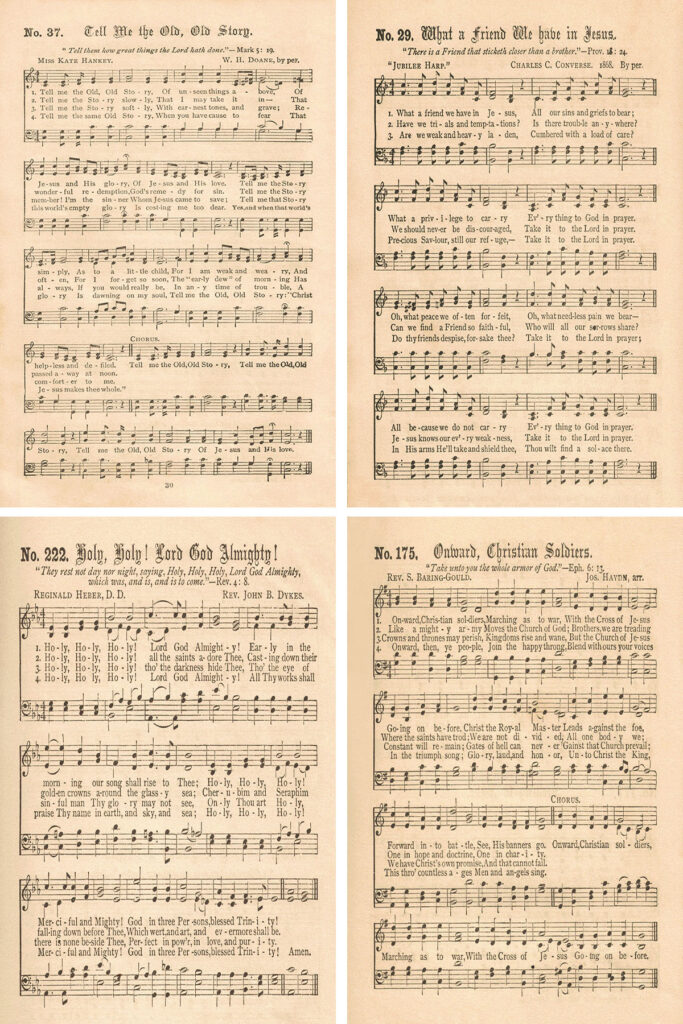 Gospel Hymns Consolidated Collage