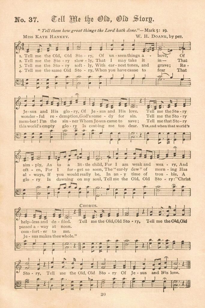 Gospel Hymns Tell Me the Old Old Story