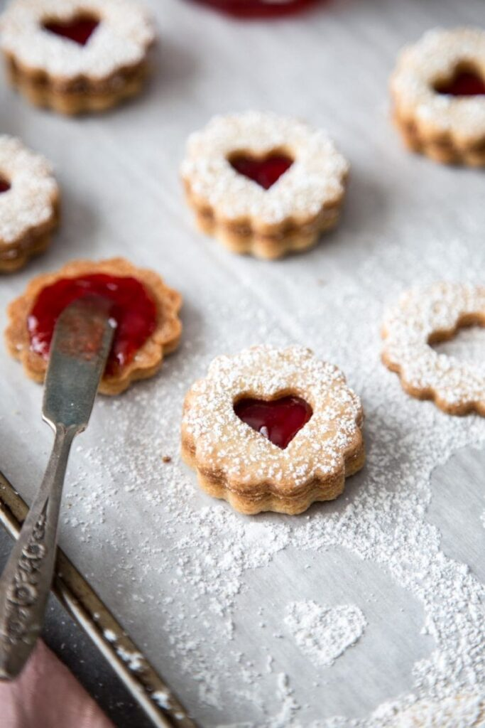 Linzer Cookies Oh Sweet Basil