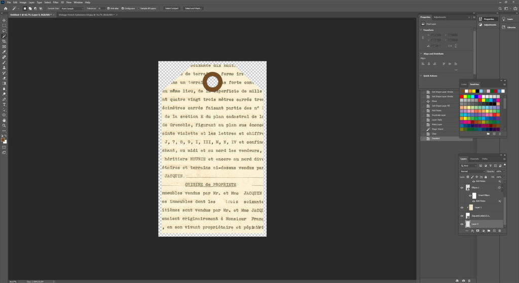 Making a Transparent Background Layer in Photoshop