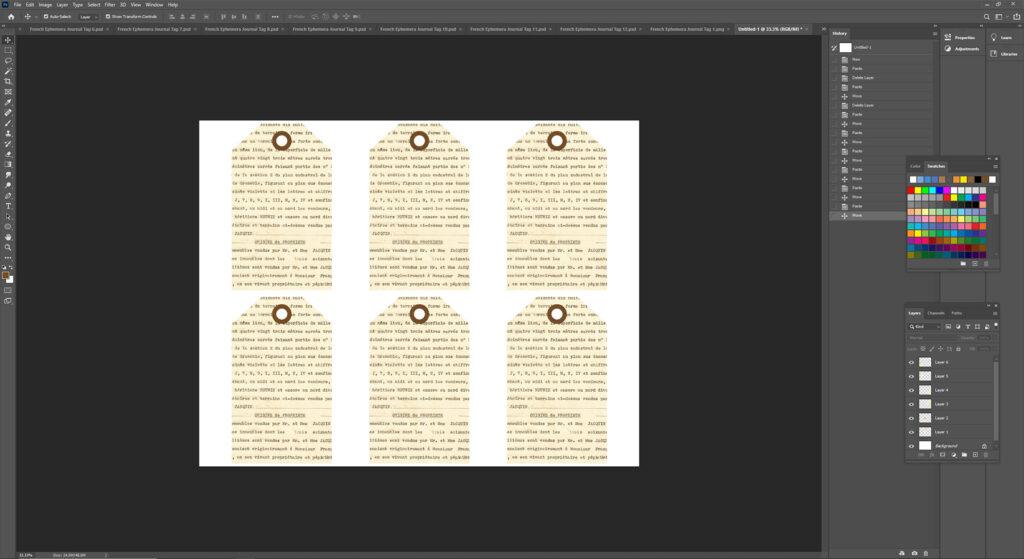 Making an 8.5x11 Digital Journal Tags