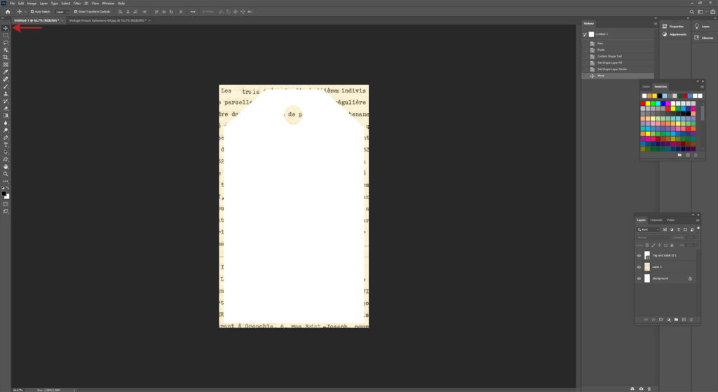 Positioning a Custom Shape in Photoshop