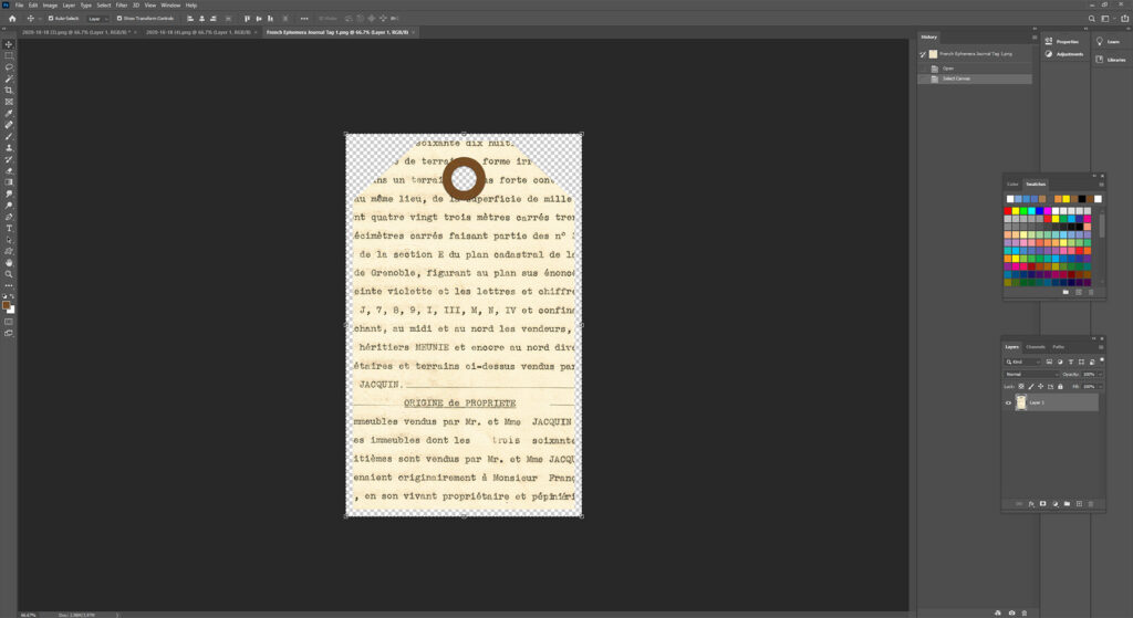 Selected and Copied Digital Journal Tag
