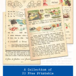A Collection of 20 Free Printable Vintage French Children's Primer Book Pages