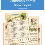 Free Printable Vintage French Children's Primer Book Pages