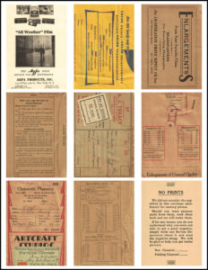 Vintage Film Photography ATC 8.5x11 Page