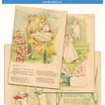 11 Vintage Printable Fairy Soap Fairy Tales with Color Illustrations