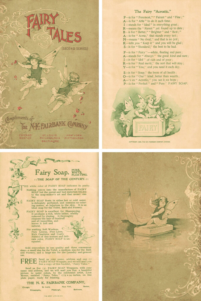 Fairy Tales First Last Pages Collage