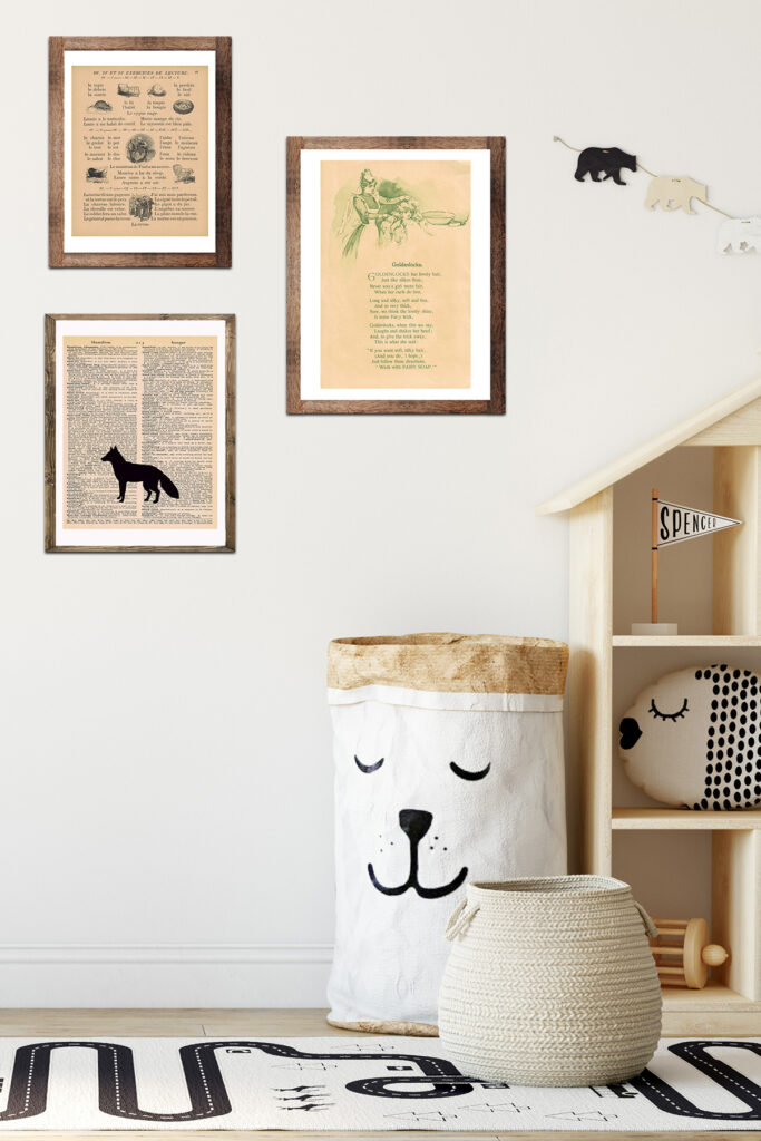 Kid Bedroom With Framed Art