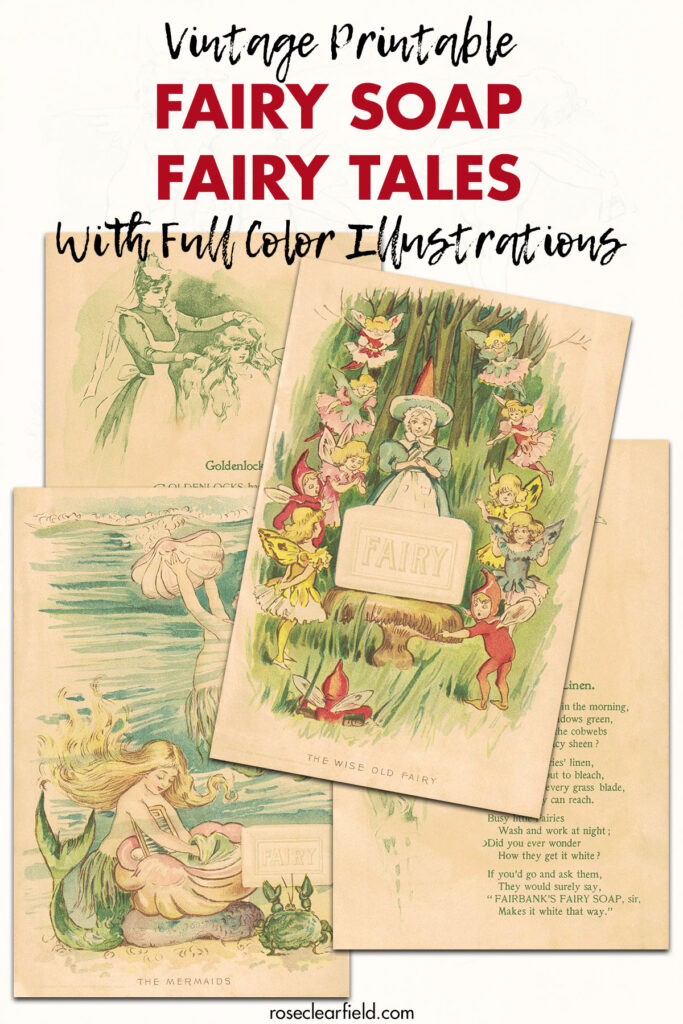 Vintage Printable Fairy Soap Fairy Tales with Full Color Illustrations